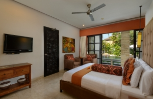 The Residence Seminyak - Villa Amman - Bedroom with TV