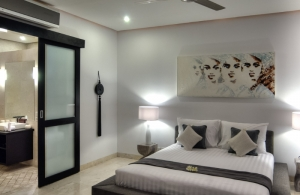 The Residence Seminyak - Villa Lanai - Bedroom one & bathroom