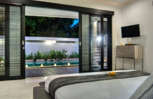 The Residence Seminyak - Villa Lanai - Bedroom two view to pool area