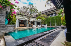 The Residence Seminyak - Villa Senang - View of the villa from the bale